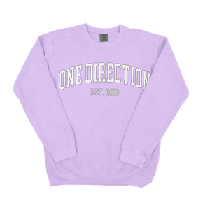 1D Block Letters Comfort Colors Sweatshirt