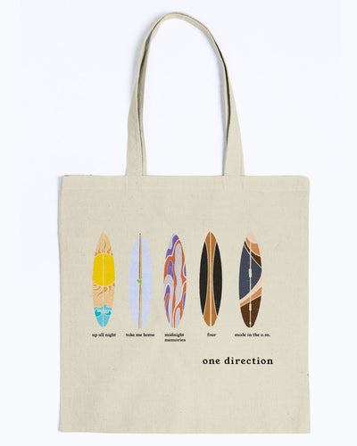 1D Surfboard Canvas Tote