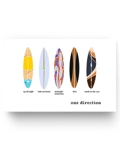 1D Surfboard 17x11in Poster
