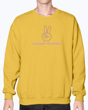 Load image into Gallery viewer, TPWK Peace Sign Lilac Sweatshirt