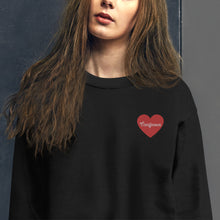 Load image into Gallery viewer, Tomlinson Embroidered Heart Sweatshirt