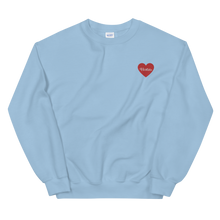 Load image into Gallery viewer, Horan Embroidered Heart Sweatshirt