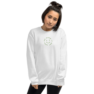 We Made It Embroidered Sweatshirt