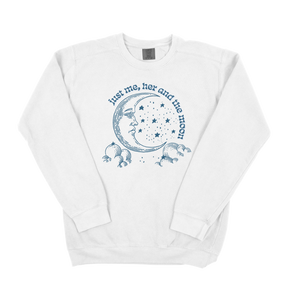 Just Me, Her and The Moon Comfort Colors Sweatshirt