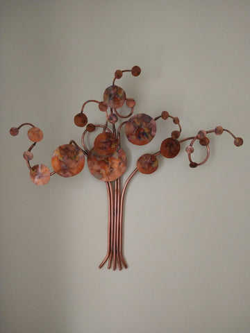 Celestial tree copper wall hanging