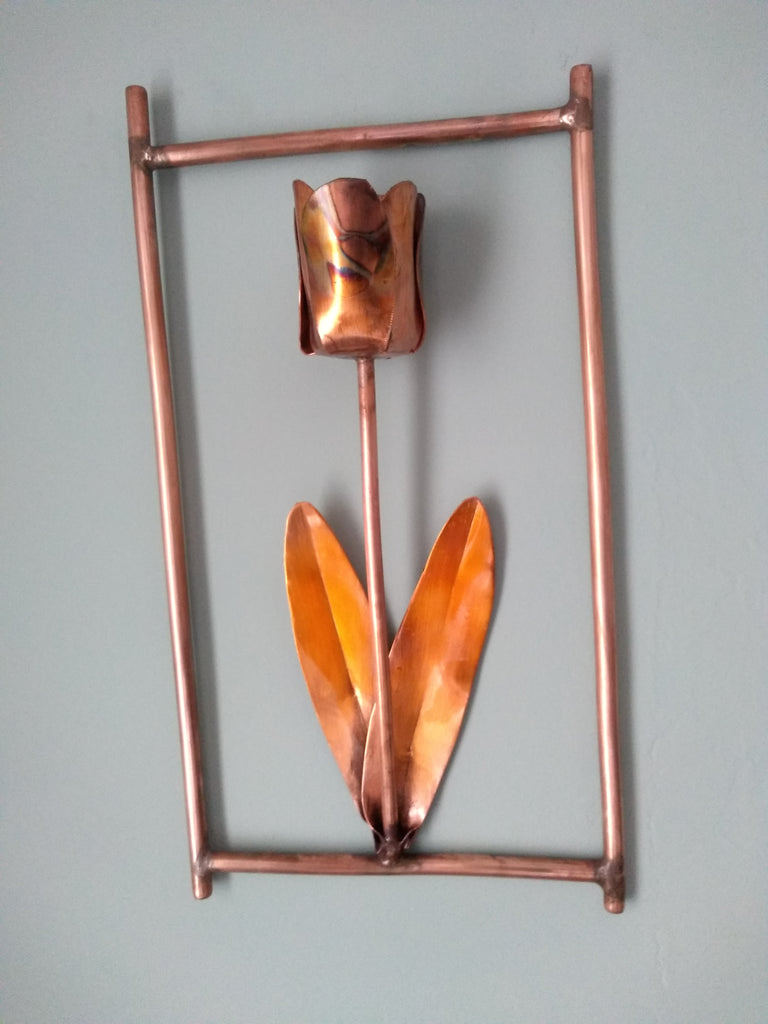 Copper tulip wall hanging - Deshca Designs