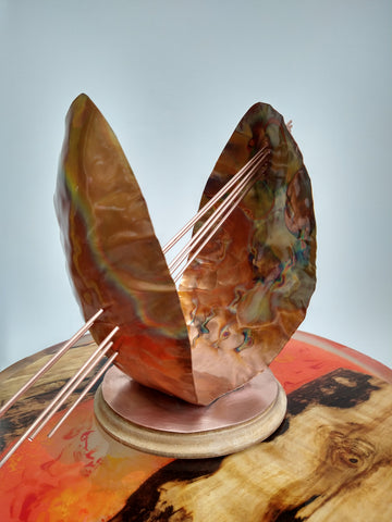 Abstract copper art