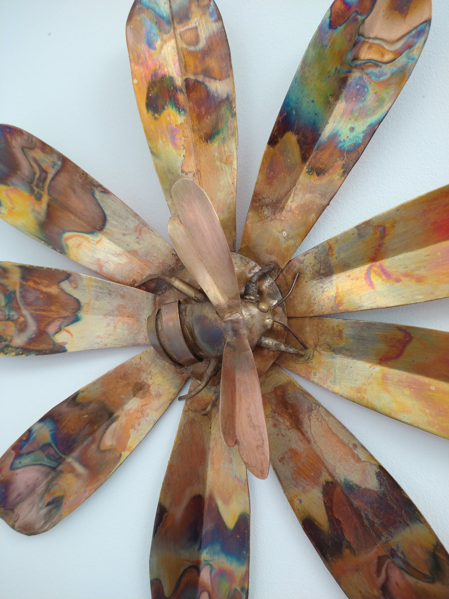 Copper bee wall hanging