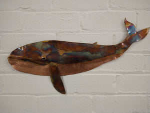 Blue whale sculpture
