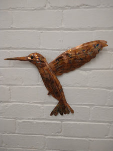 Copper hummingbird wall hanging