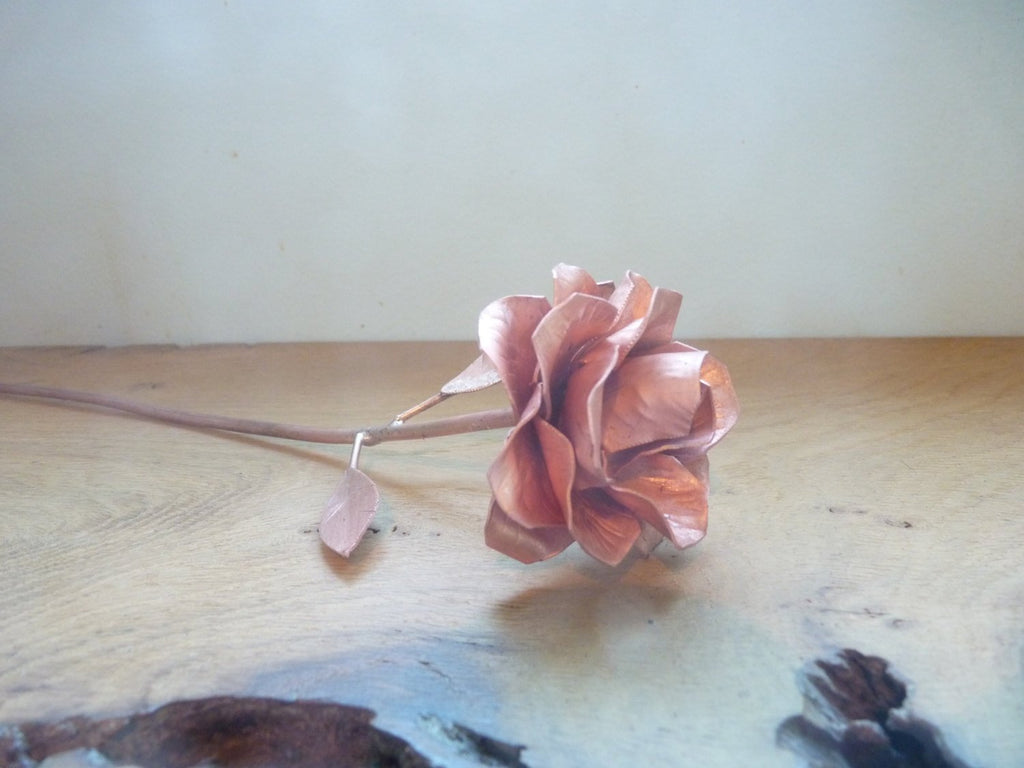 Copper rose, 15th wedding anniversary, 7th anniversary, Valentine love gift, copper gift - Deshca Designs