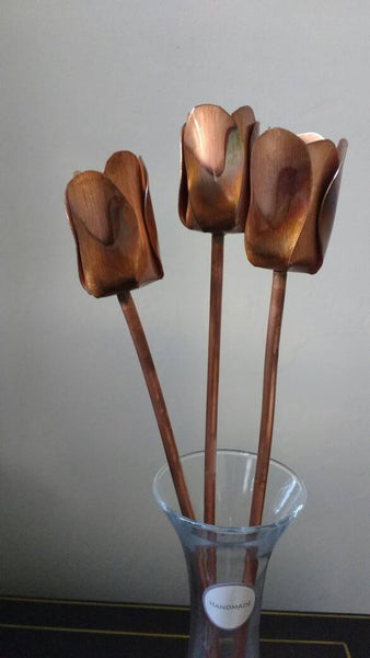 Copper tulips, metal tulips, 7th anniversary,copper wedding decor, tulips, flower, Birthday gift - Deshca Designs