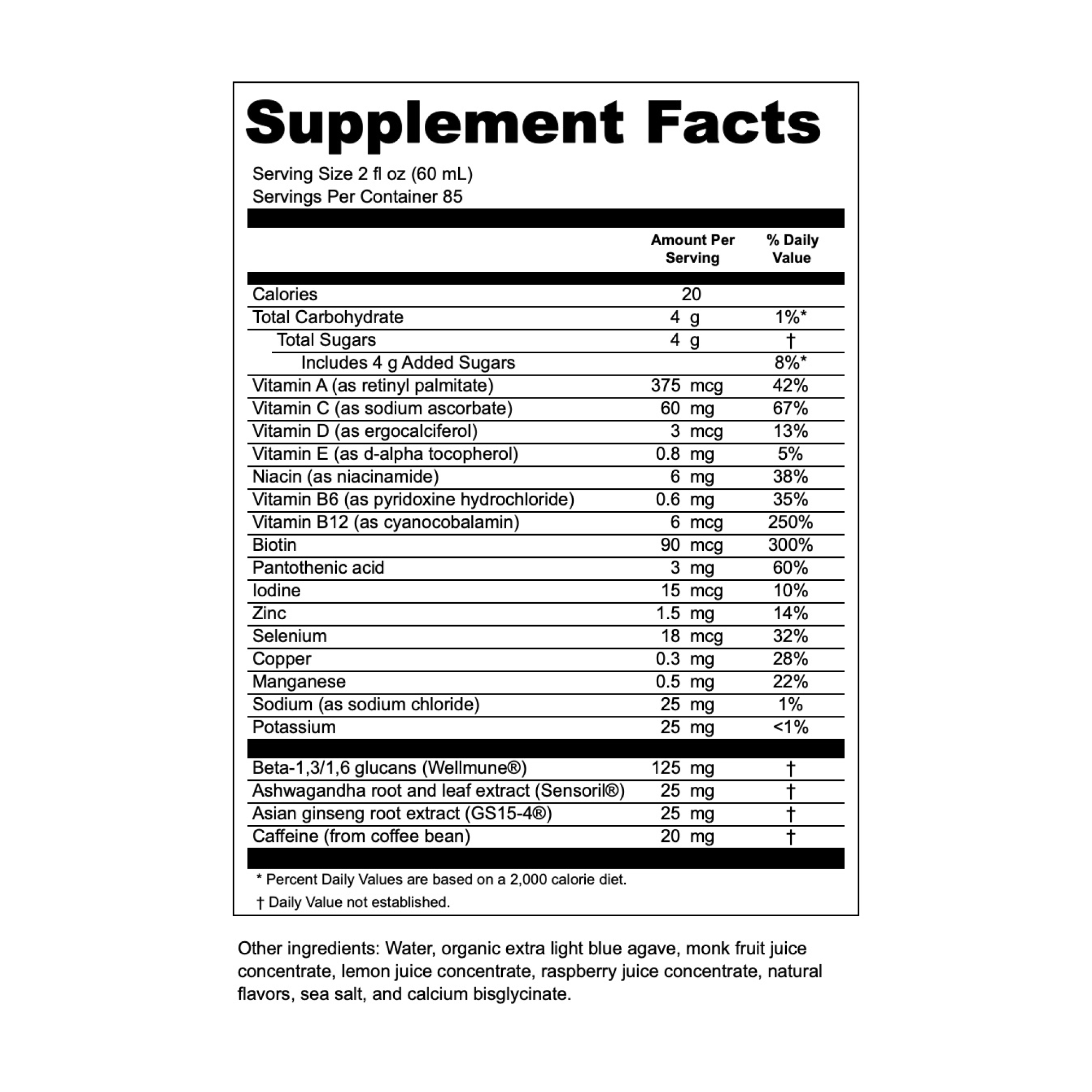 Swift WorkWellness Formula Supplement Panel