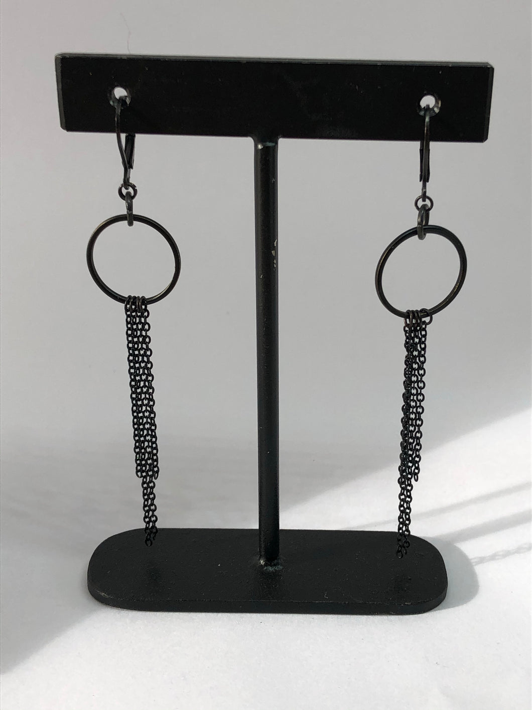 In chains earrings