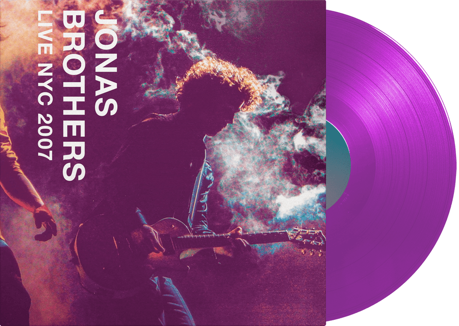Jonas Brothers LP (Gold-in-White vinyl) + LIVE NYC 2007 LP (Purple vinyl) - JONAS VINYL CLUB