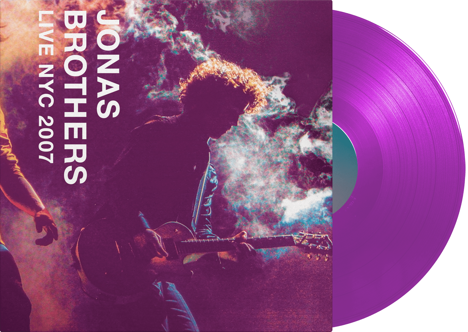 Jonas Brothers - Live NYC 2007 LP (Purple with smoke) - JONAS VINYL CLUB