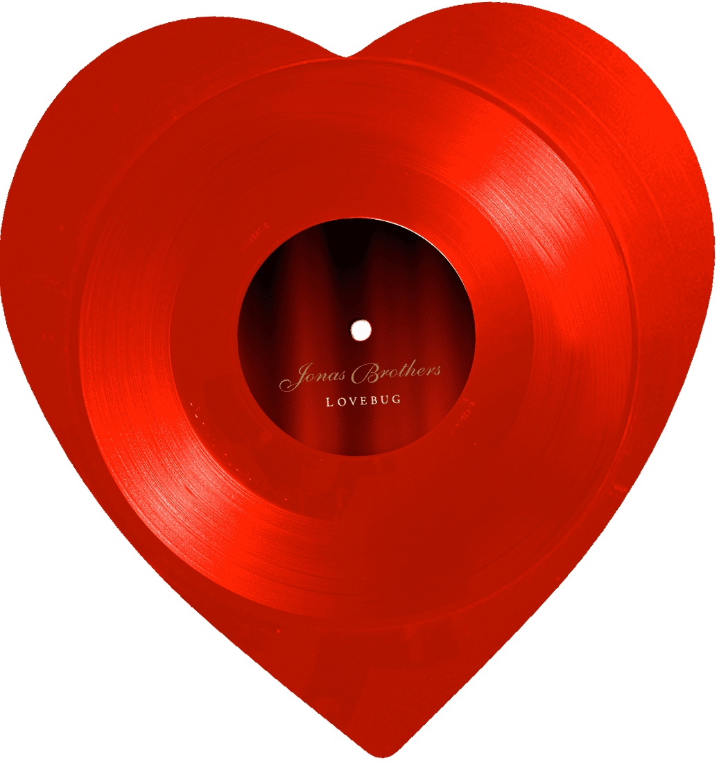 "Lovebug 10"" Heart Shaped Vinyl"