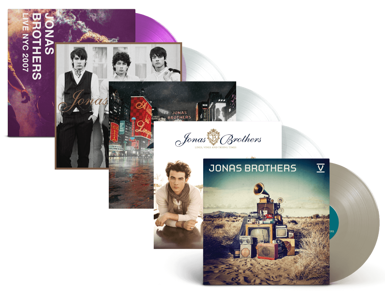 Jonas Brothers 5 LP Bundle!!
