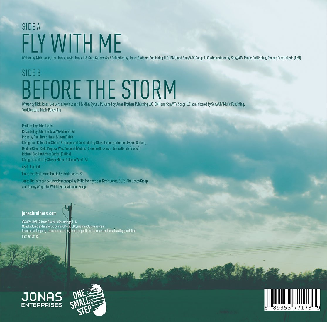 "Fly With Me 7"" Single - JONAS VINYL CLUB"