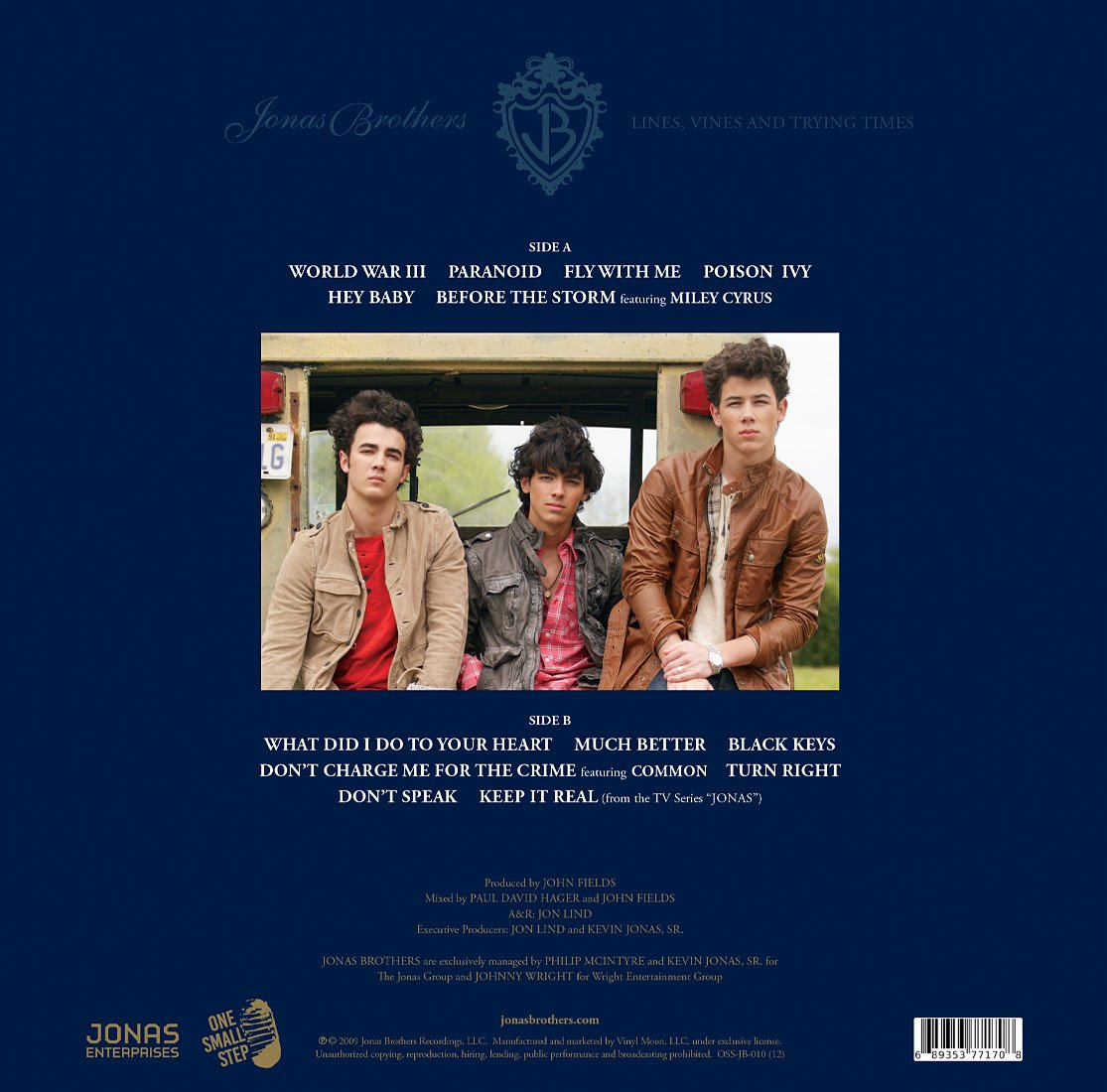 Jonas Brothers - Lines, Vines & Trying Times LP (Coke bottle clear vinyl!) - JONAS VINYL CLUB
