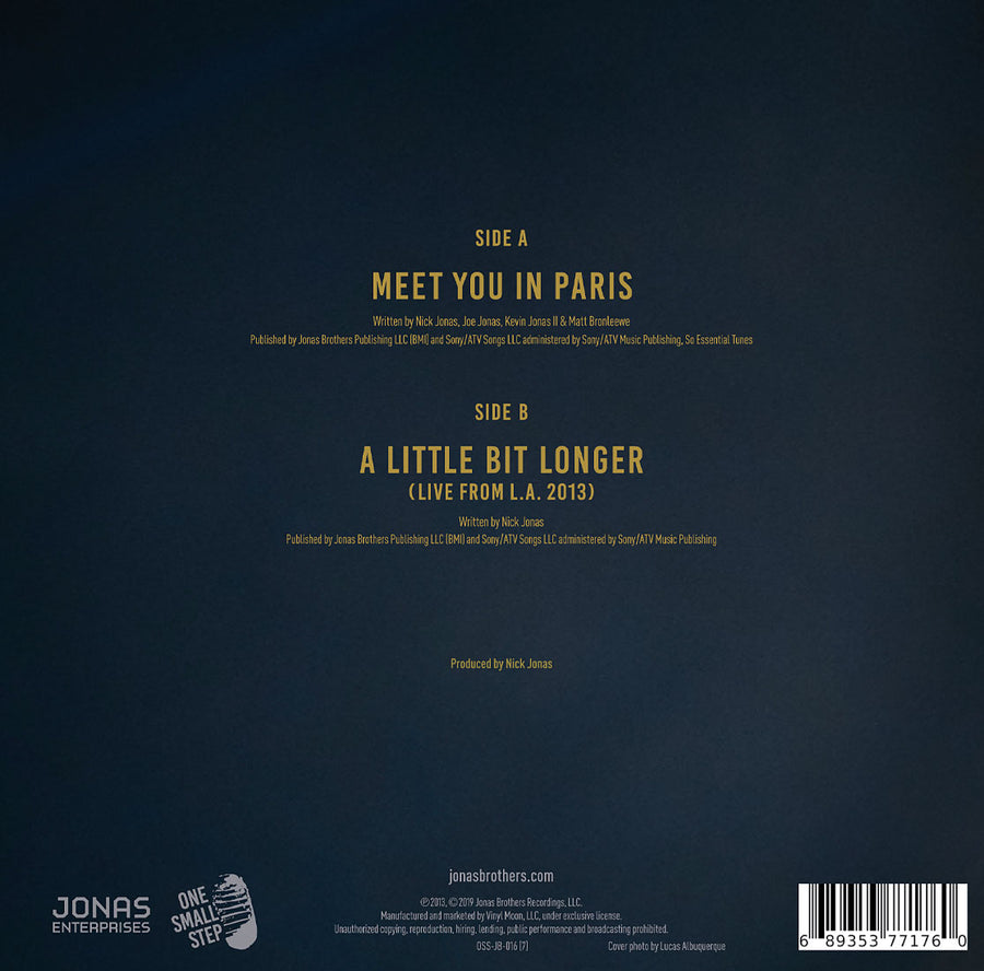 "Meet You in Paris 7"" Single - JONAS VINYL CLUB"