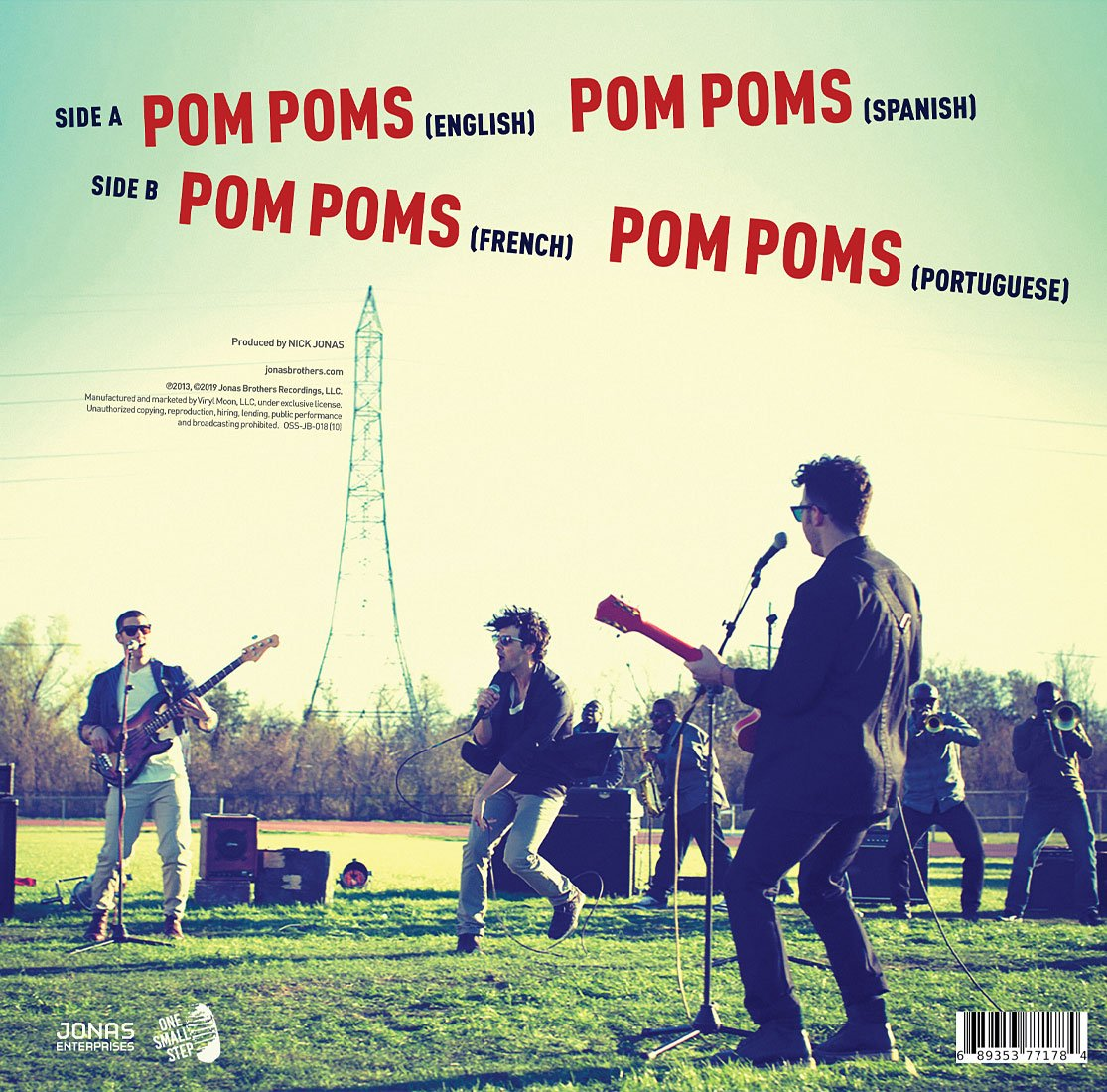 "Pom Poms 10"" Single - JONAS VINYL CLUB"