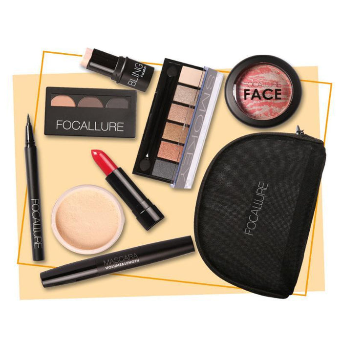 FOCALLURE™ Octo Makeup Kit with Cosmetics Bag   Roxee