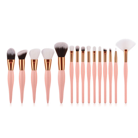 Wood Handle Foundation Blending Brush Set (8/12/15)