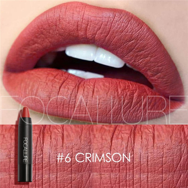 Focallure™ Ultra Matte Lipsticks | Crimson #6 Default Title  Roxee