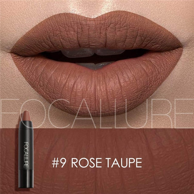 Focallure™ Ultra Matte Lipsticks | Rose Taupe #9 Default Title  Roxee