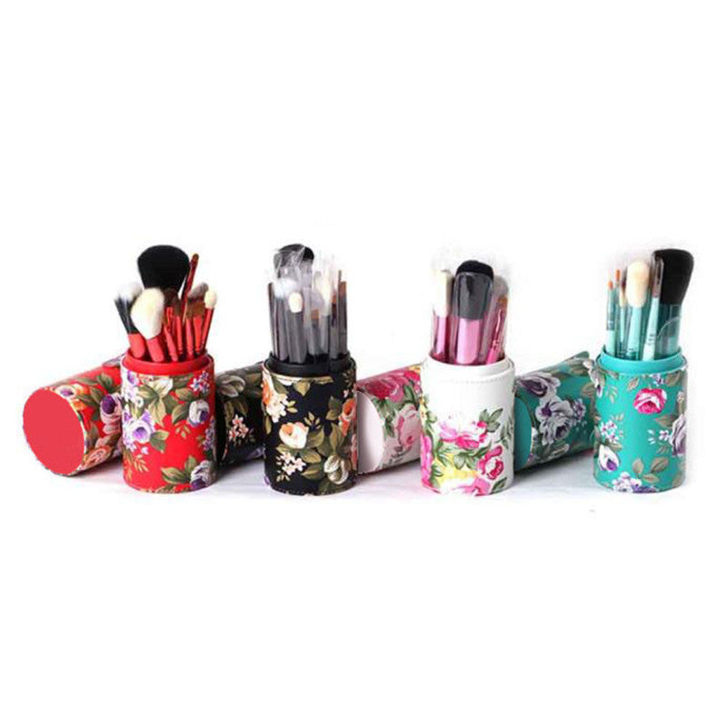 Professional® Roses Makeup Brush Cylinder - Travel-friendly Holder