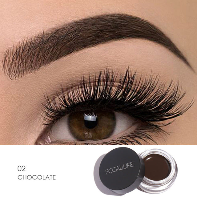Focallure™ Chocolate | Waterproof Eyeliner Cream + Black Brush Default Title  Roxee