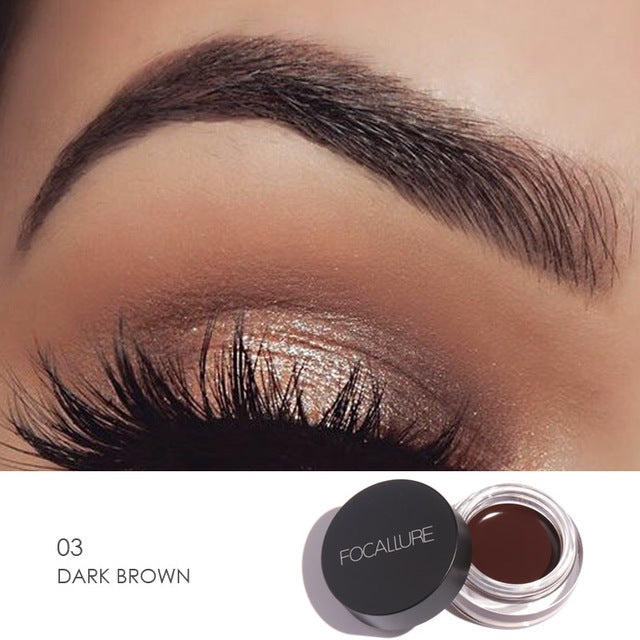 Focallure™ Dark Brown | Waterproof Eyeliner Cream + Black Brush Default Title  Roxee