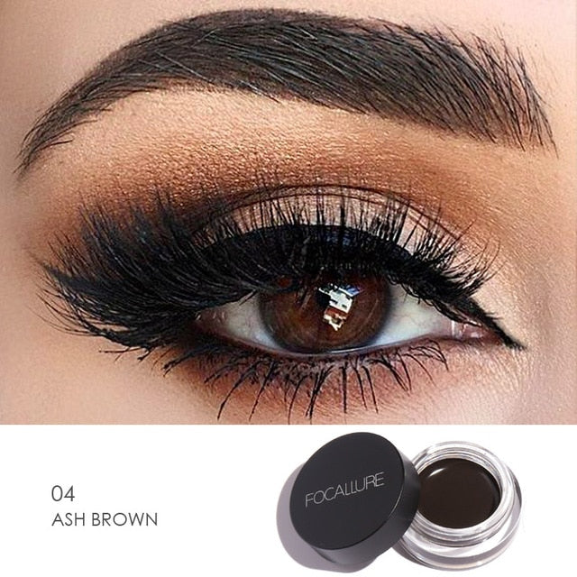 Focallure™ Ash Brown | Waterproof Eyeliner Cream + Black Brush Default Title  Roxee