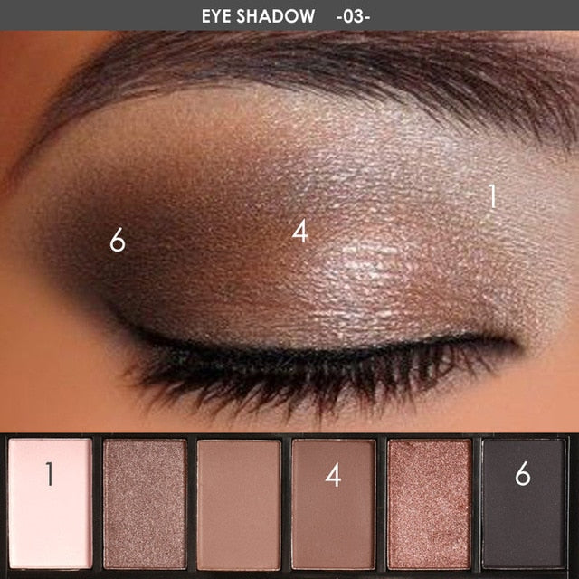 Focallure™ Smokey Pro 6 Eyeshadow #03 Default Title  Roxee