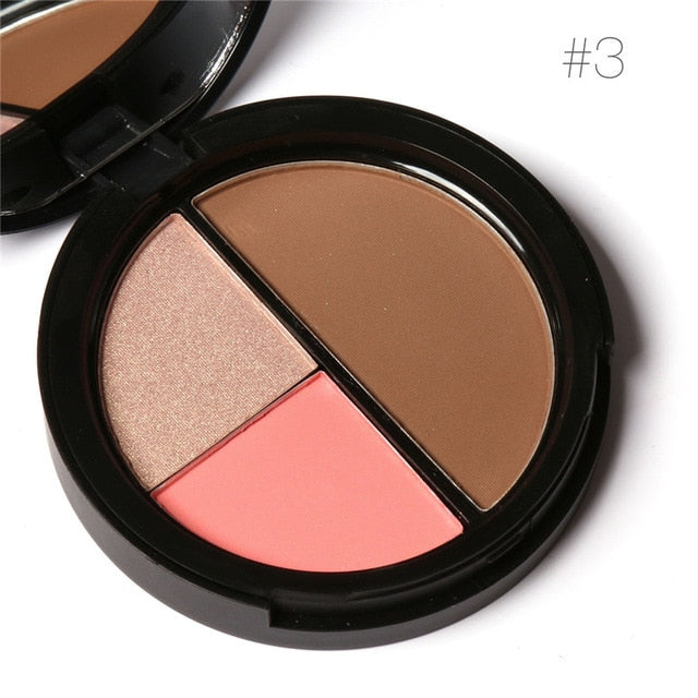 Focallure™ 3 Colors Blush + Highlighters + Contour | Set #3 Default Title  Roxee