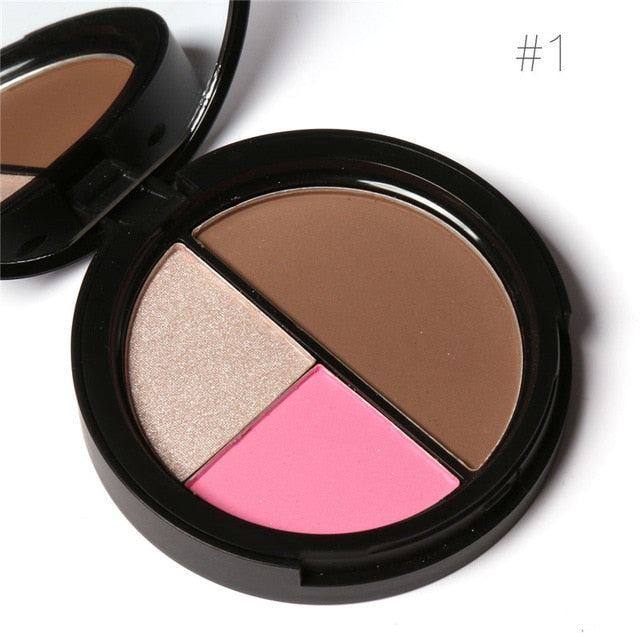 Focallure™ 3 Colors Blush + Highlighters + Contour | Set #1 Default Title  Roxee