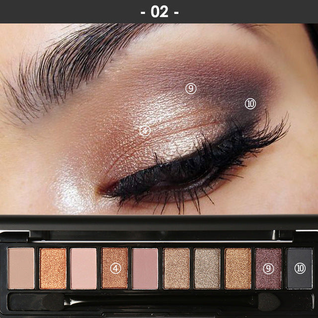 Focallure™ Pro 10 Eyeshadow Colors Set | #2 Default Title  Roxee