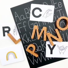 Load image into Gallery viewer, Cherry Wood Alphabet Set