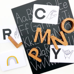 Cherry Wood Alphabet Set