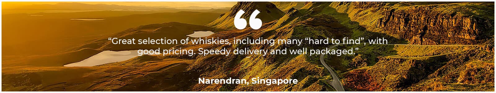 Customer testimonial for Whisky Business