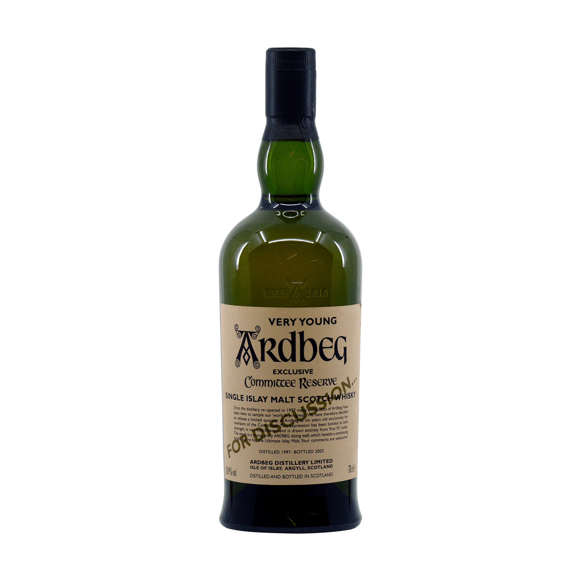 Ardbeg 2003 6 Year Old 'Very Young' For Discussion...