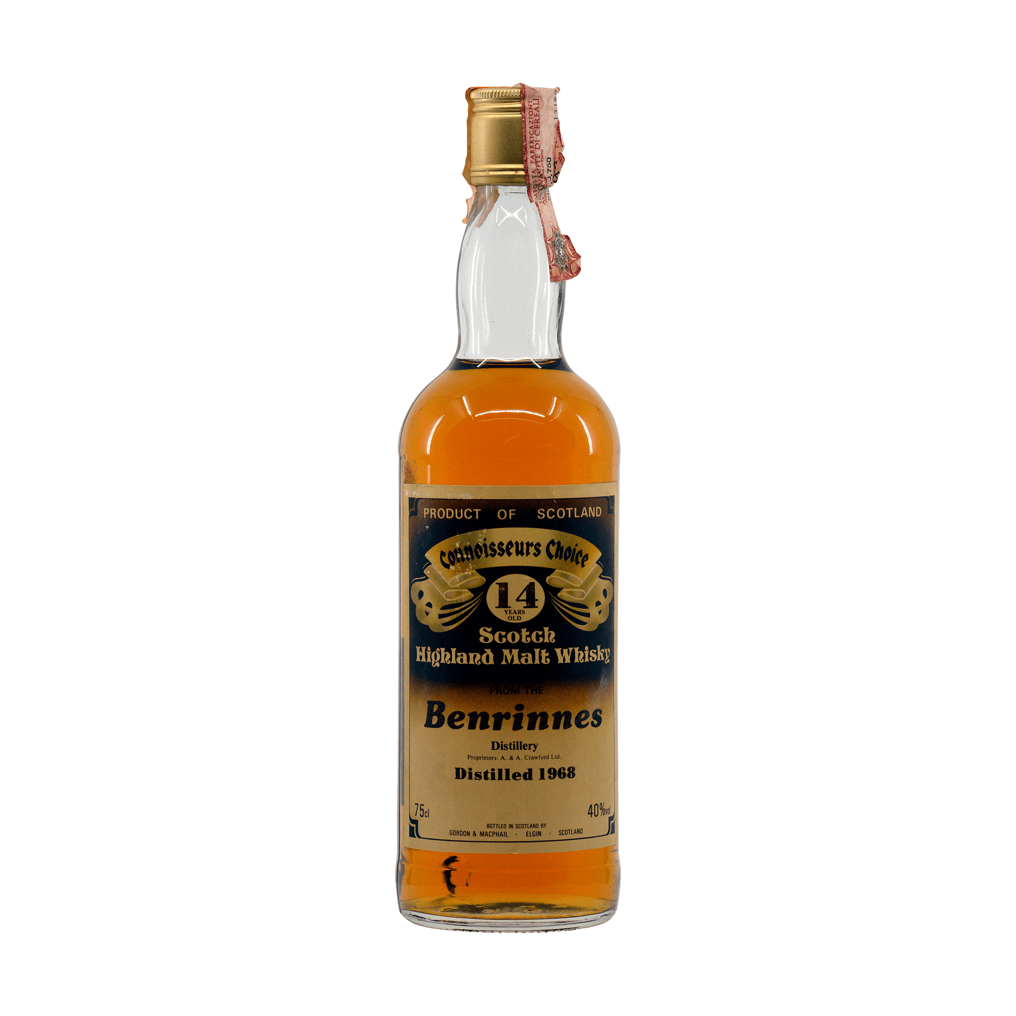 Benrinnes 1968 14 Year Old 'Connoisseurs Choice' Gordon & MacPhail 40.00%