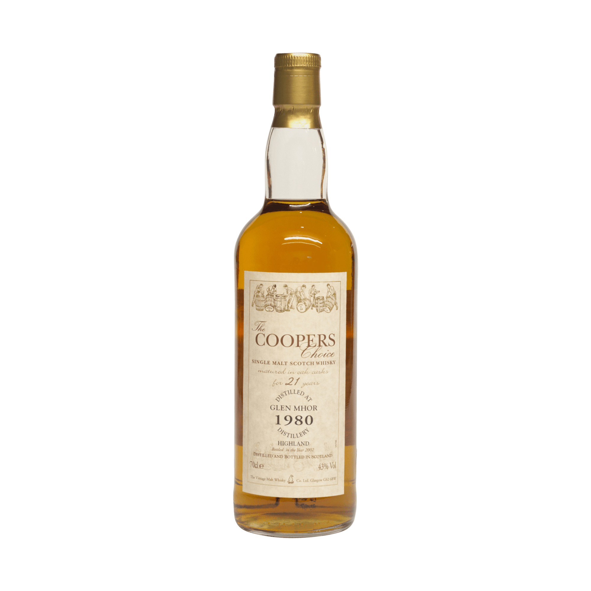 Glen Mhor 1980 21 Year Old 'The Coopers Choice' The Vintage Malt Whisky Company 43.00%