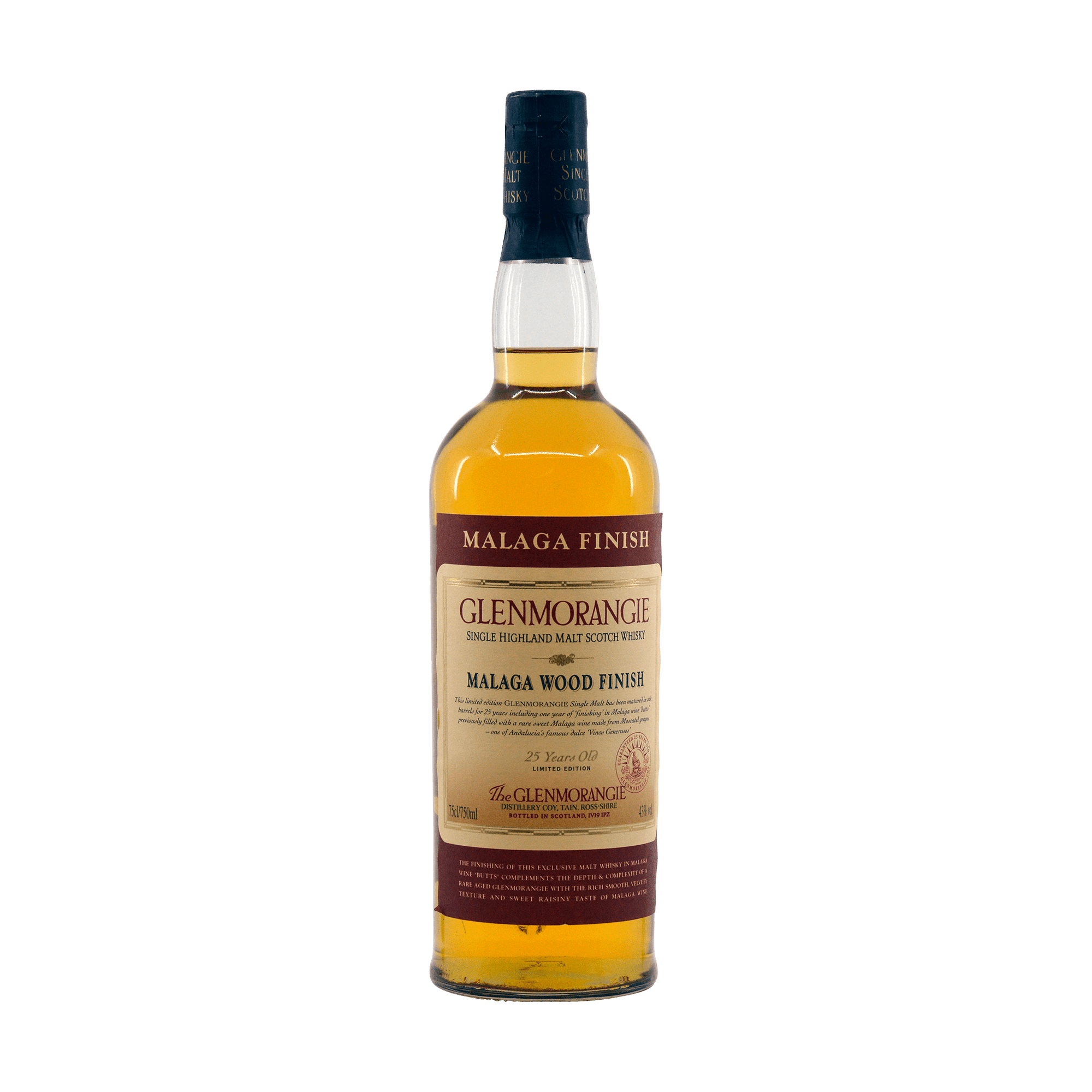 Glenmorangie 25 Year Old Malaga Finish 43.00%