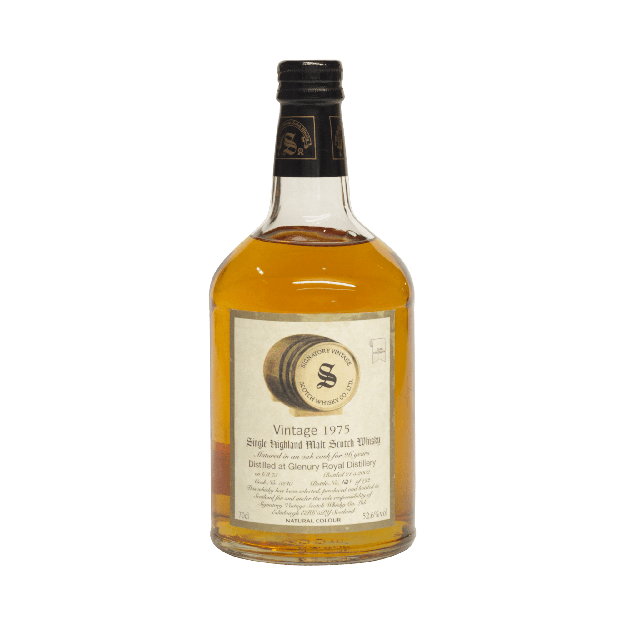 Glenury Royal 1975 26 Year Old Signatory Vintage SW 52.60%