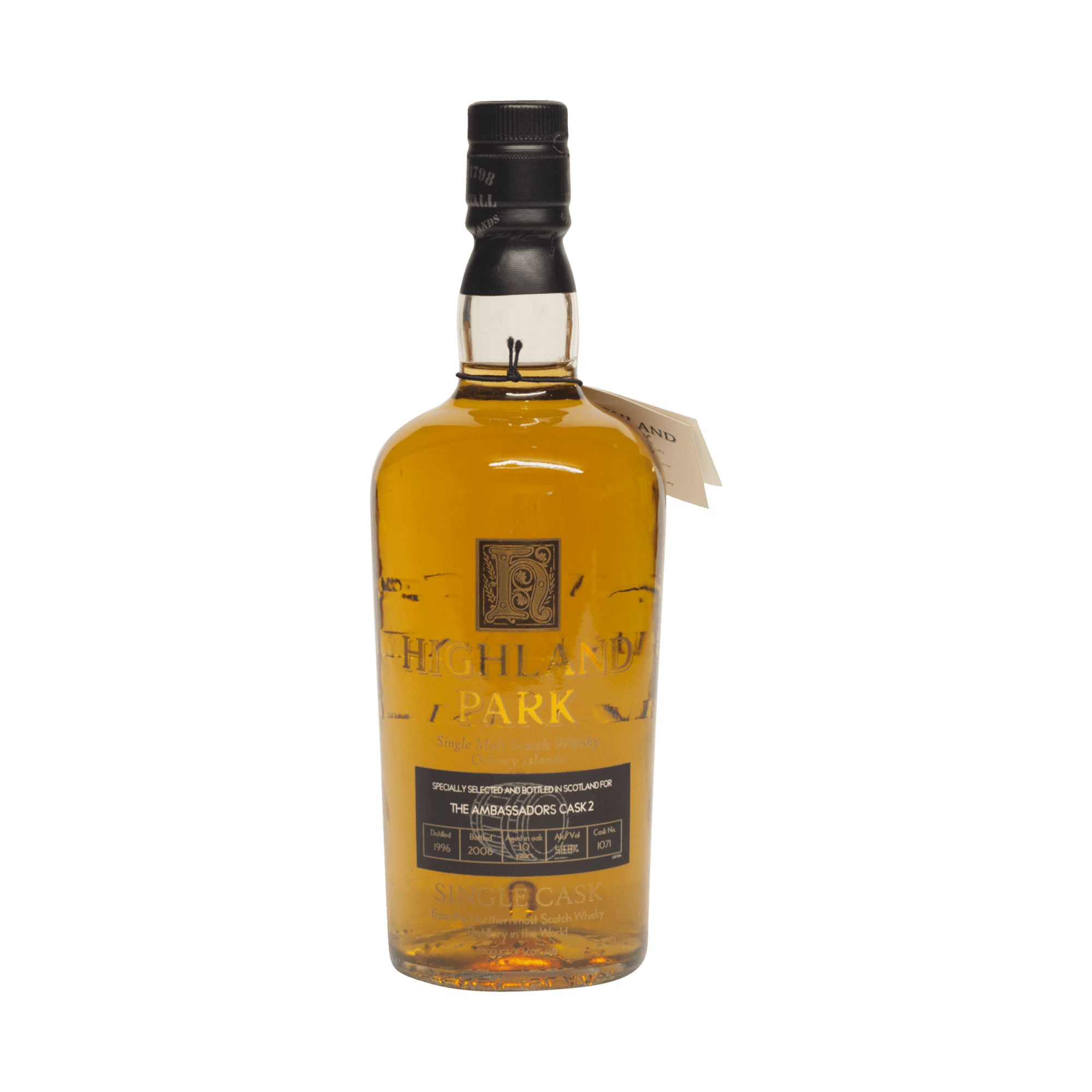 Highland Park 1996 10 Year Old 'The Ambassadors Cask' 58.80%