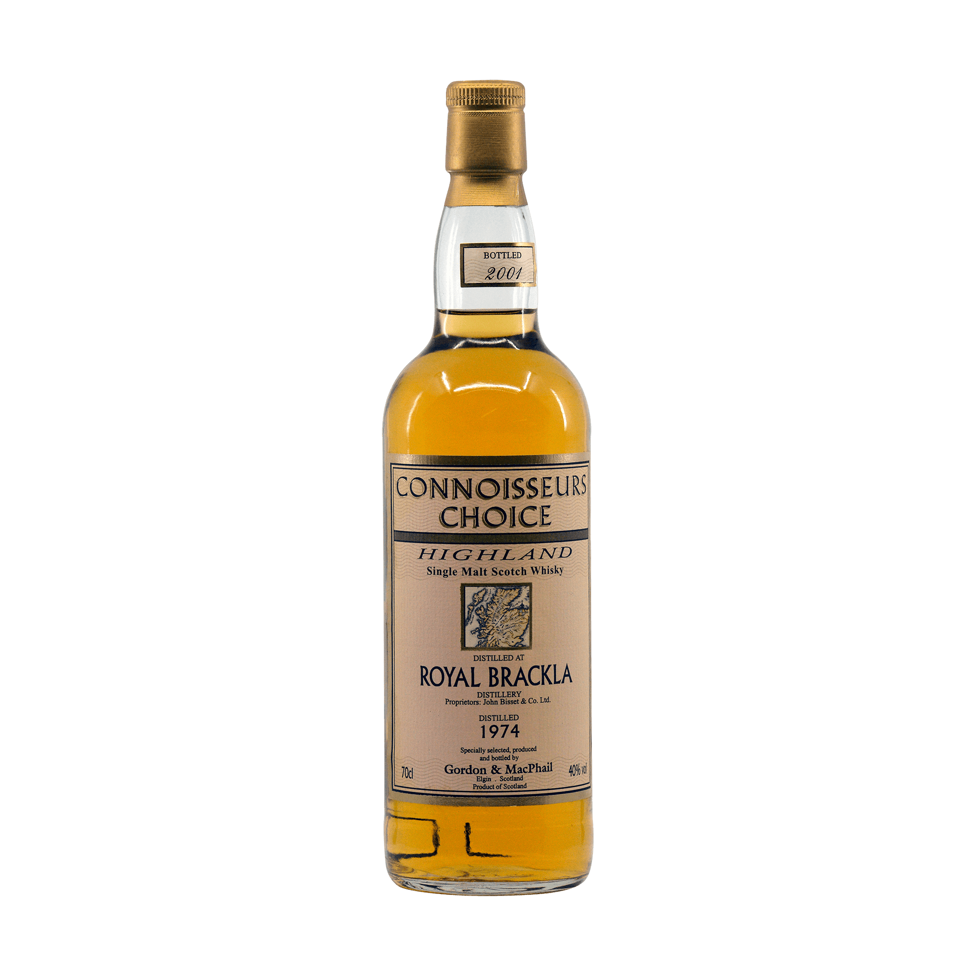 Royal Brackla 1974 27 Year Old 'Connoisseurs Choice' Gordon & MacPhail 40.00%