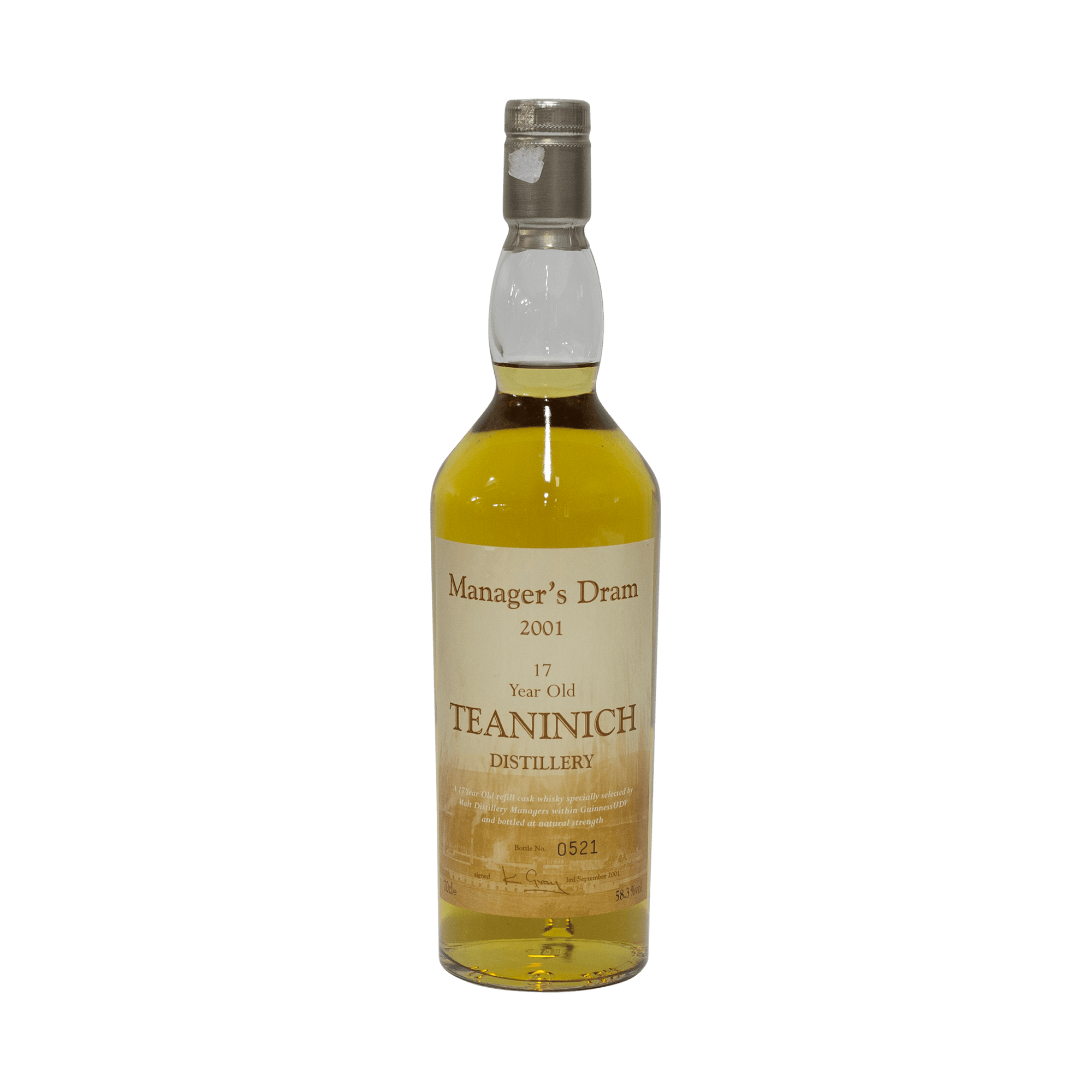 Teaninich 17 Year Old 'The Manager's' Dram 58.30%