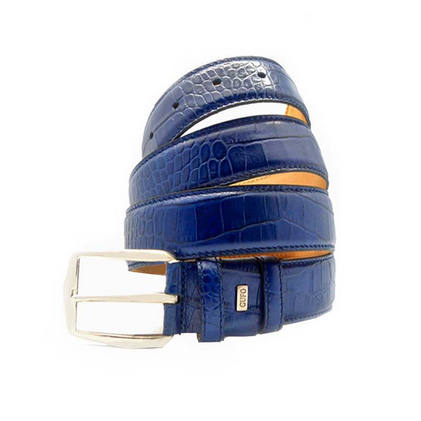 GUFO LEATHER BELT | GF74 - 40 BLUE - Zawadis.com